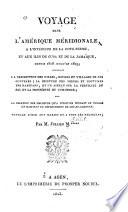 Voyage dans l Am  rique M  ridionale     l int  rieur de la c  teferme  et aux   les de Cuba et de la Jama  que  depuis 1808 jusqu en 1819