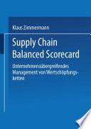Supply Chain Balanced Scorecard