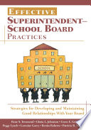 Effective Superintendent School Board Practices