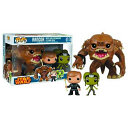 Pop  Star Wars   Rancor With Luke   Slave Oola Vinyl Figure 3 pack