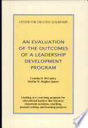An Evaluation of the Outcomes of a Leadership Development Program