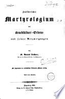 Ausführliches Martyrologium des Benediktiner-Ordens und seiner Verzweigungen