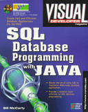 Sql Database Programming With Java