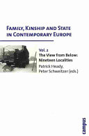 Family  Kinship and State in Contemporary Europe