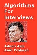 Algorithms for Interviews: A Problem Solving Approach