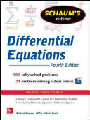 Schaum s Outline of Differential Equations  4th Edition