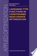 Lagrange Type Functions In Constrained Non Convex Optimization book