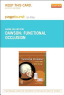 Functional Occlusion Pageburst on Kno Access Code