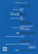 Annual World Bank Conference on Development Economics 2000