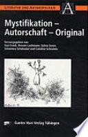 Mystifikation, Autorschaft, Original