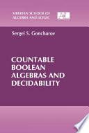 Countable Boolean Algebras and Decidability