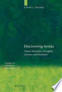 Discovering Syntax