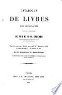 Catalogue de livres ... composant la bibliothèque de feu M. H. M. Erdeven, ... dont la vente aura lieu, etc. [With the prices in MS.]