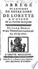 Abreg De L Histoire De Notre Dame De Lorette L Usage De La Nation Fran Aise