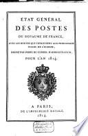 Etat général des postes de France ... pour l'année ....