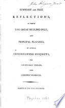 Summary And Free Reflections In Which The Great Outline Only And Principal Features Of The Following Subjects Are Impartially Traced By H C Jennings