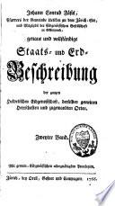 Johann Conrad Fäsis... genaue und vollständige Staats- und Erd-Beschreibung der ganzen Eidgenossschaft, derselben gemeinen Herrschaften und zugewandten Orten