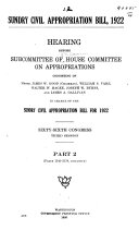 Sundry Civil Appropriation Bill, 1922