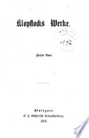Dramatische Schriften: Der Tod Adams. Hermanns Schlacht. Salomo. Hermann und die Fürsten. David. Hermanna Tod