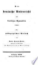Der deutsche Unterricht auf deutschen Gymnasien