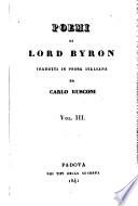 Poemi di Lord Byron tradotti in prosa italiana