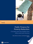 Public Finance for Poverty Reduction