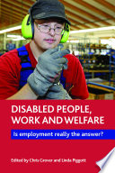 Disabled people  work and welfare