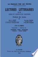 Lectures litt    raires   Volume 1   Livre du Ma  tre  Partie B