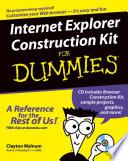 Internet Explorer Construction Kit For Dummies