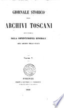 Giornale storico degli archivi toscani