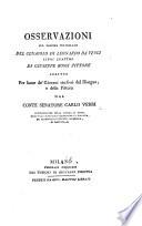 Osservazioni sul volume intitolato    Del Cenacolo di Leonardo Da Vinci  libri quattro di G  Bossi