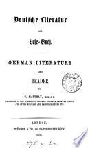 Deutsche Literatur Und Lese Buch