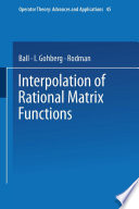 Interpolation of Rational Matrix Functions