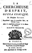 Théâtre de M. Favart - la chercheuse d'esprit