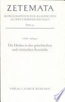 Die Hetäre in der griechischen und römischen Komödie