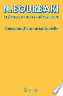 illustration du livre Fonctions d'une variable réelle