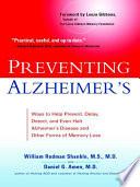 Preventing Alzheimer S