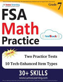 FSA Test Prep  7th Grade Math Practice Workbook and Full length Online Assessments