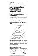 Photogrammétrie et systèmes d'information du territoire avec présentation des systèmes Intergraph, Kern, Prime Wild GIS, Zeiss; ensemble des textes et des discussions d'un séminaire organisé en 1989 à l'Ecole Polytechnique Fédérale de Lausanne