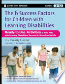 The Six Success Factors for Children with Learning Disabilities