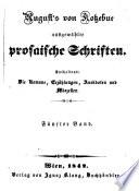 August von Kotzebues ausgewaehlte prosaische Schriften: Bd. Philibert, oder Die Verhaeltnisse