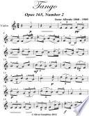 Tango Opus 165 Number 2 Easy Violin Sheet Music