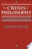 The Crisis of Philosophy