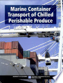 Marine Container Transport Of Chilled Perishable Produce