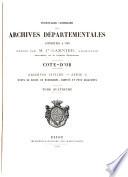 Inventaire sommaire des Archives d  partementales ant  rieures    1790    tats du duch   de Bourgogne  comt  s et pays adjacents