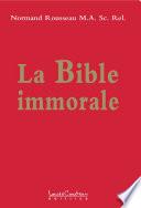 illustration du livre La Bible immorale