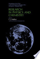 Research in Physics and Chemistry