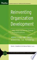 Reinventing Organization Development : look at a field concerned with renewal...