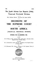 South African Law Reports  Transvaal Provincial Division