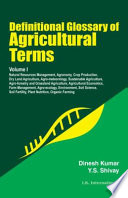 Definitional Glossary Of Agricultural Terms